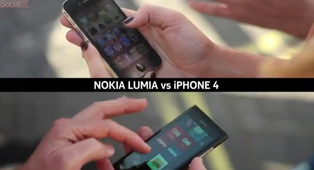 Nokia Lumia 800 vs iPhone 4