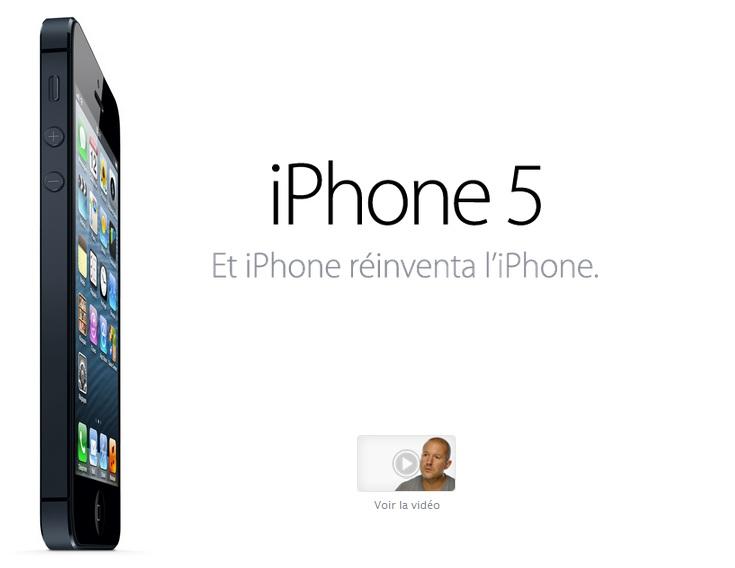 L'iPhone 5 disponible à 199 $