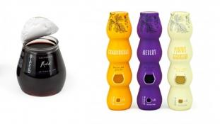 La bouteille de vin empilable mono dose