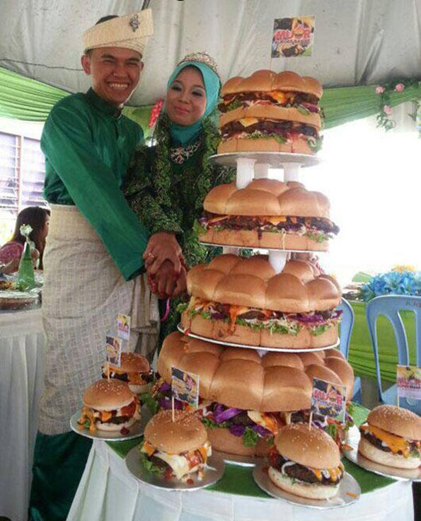 Le g teau de mariage cheeseburger le blog des tendances for Menu original entre amis