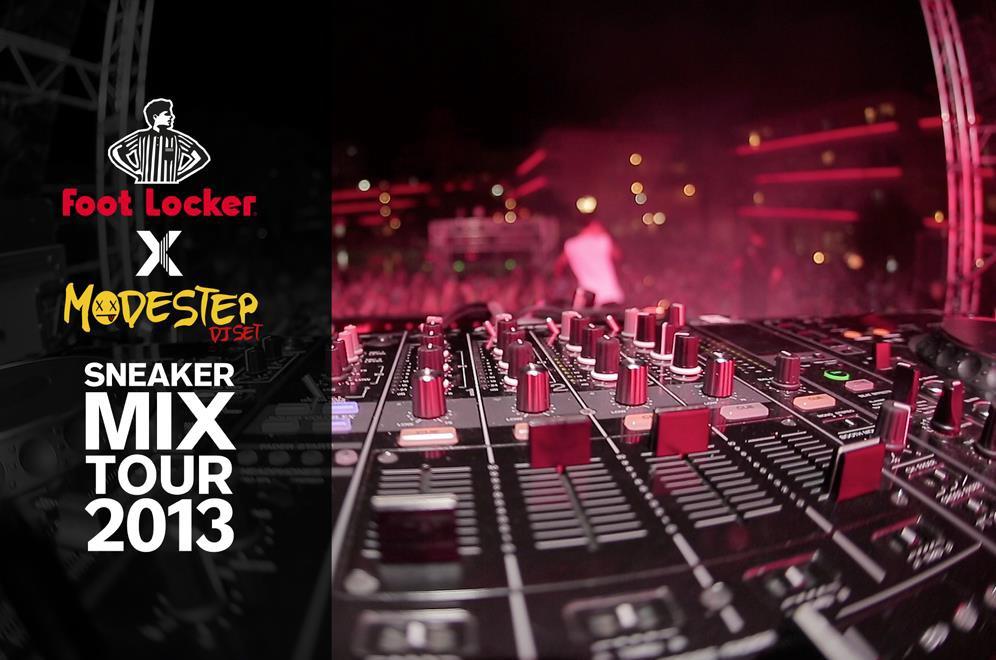 Foot Locker x Modestep 'Sneaker Mix Tour'