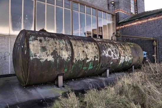 station de pompage abandonnée