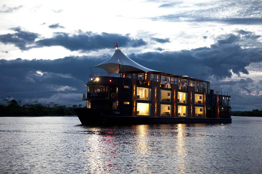 hôtel bateau de luxe Aqua Amazon