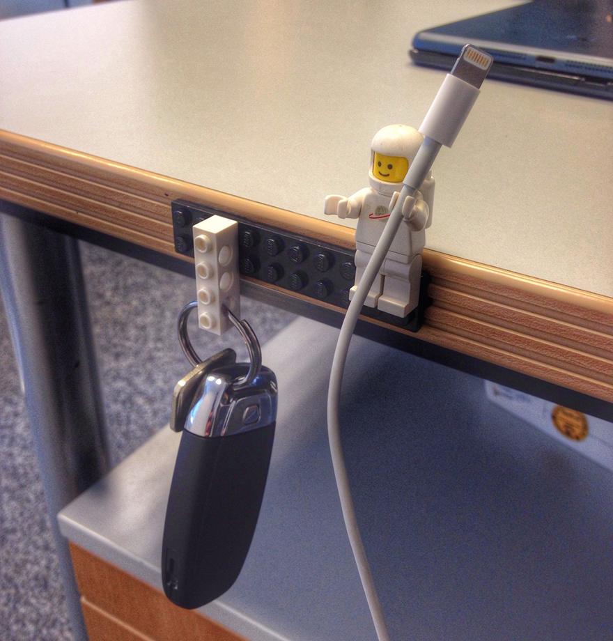 LEGO en porte-câbles