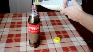 Quant on mélange du Coca et du lait …