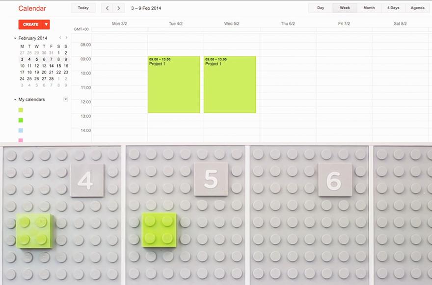 calendrier Lego