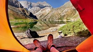 Vues du matin de la tente by Oleg Gigoryev