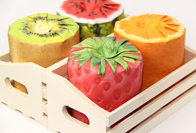 papier toilette fruits