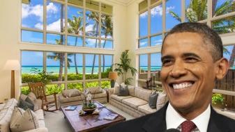 Visite de la location de vacances des Obama