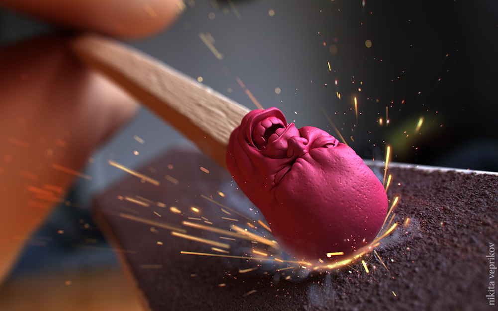 Incroyables illustrations 3D by Nikita Vepříkov