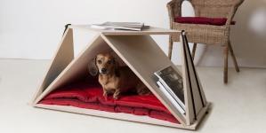 Nidin – Table basse mais aussi niche pour animaux