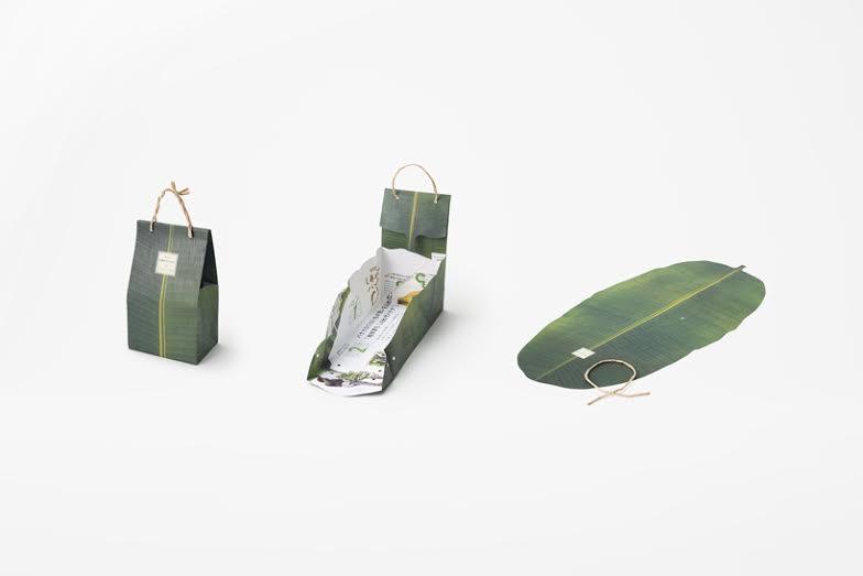 Nendo packaging banane Shiawase UNIFRUTTI Japan