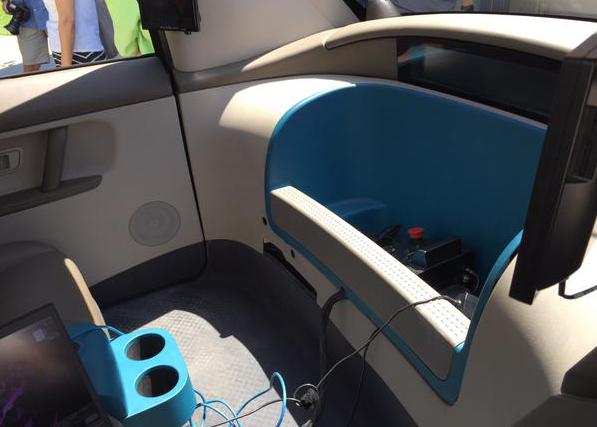 voiture sans chauffeur intérieur Google Car 2