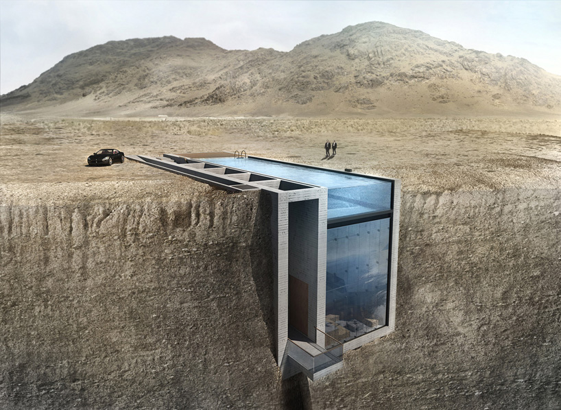 casa brutale maison falaise mer egee