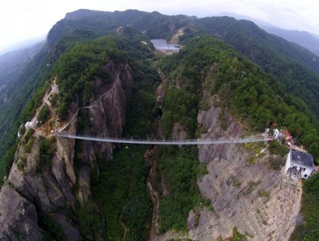 Chinese Skywalk pont en verre chine