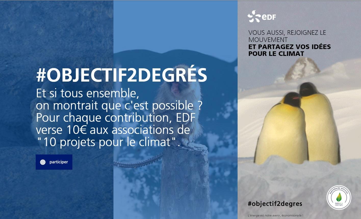 EDF COP 21 objectif2degrés