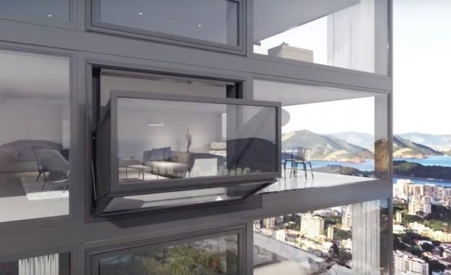 Bloomframe une fen tre qui se transforme en balcon for Fenetre qui se transforme en balcon