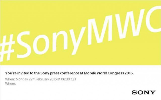 Mobile World Congress 2016 Sony