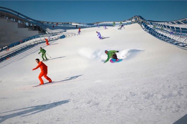 Slalom House immeuble piste de ski