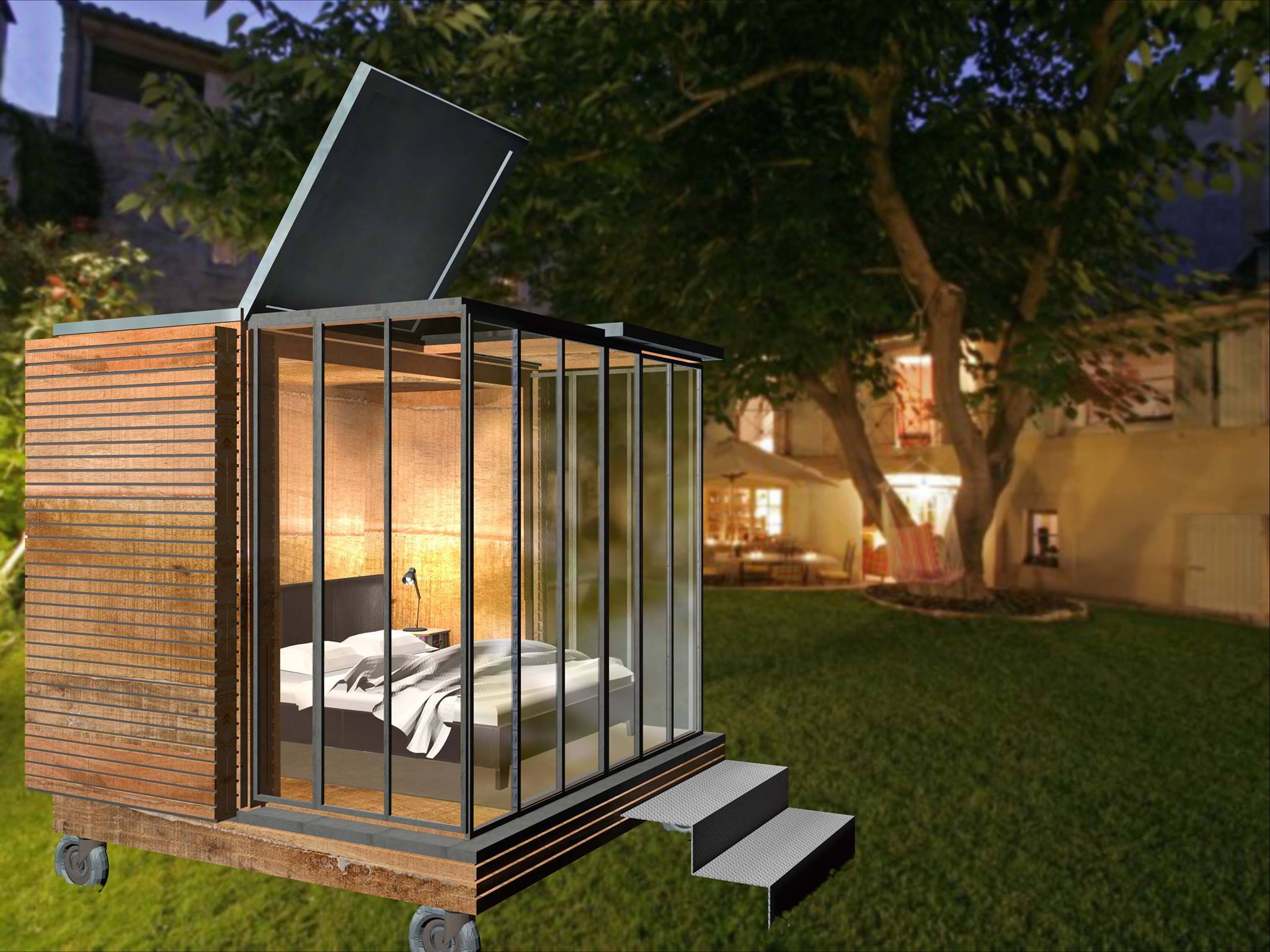un cube dans mon jardin by fr d ric tabary. Black Bedroom Furniture Sets. Home Design Ideas