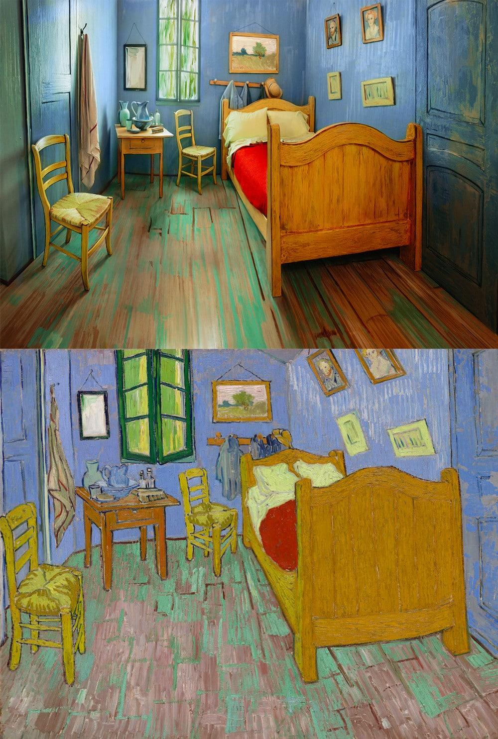 chambre de Van Gogh location Airbnb
