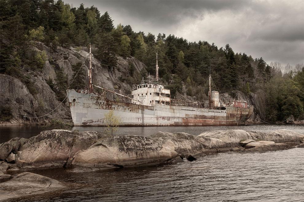 MS Hamen bateau abandonné urbex