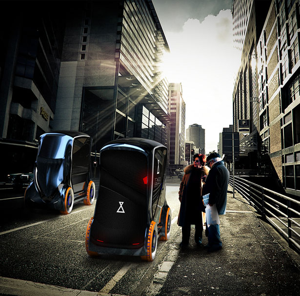 Tempo véhicule futuriste compact