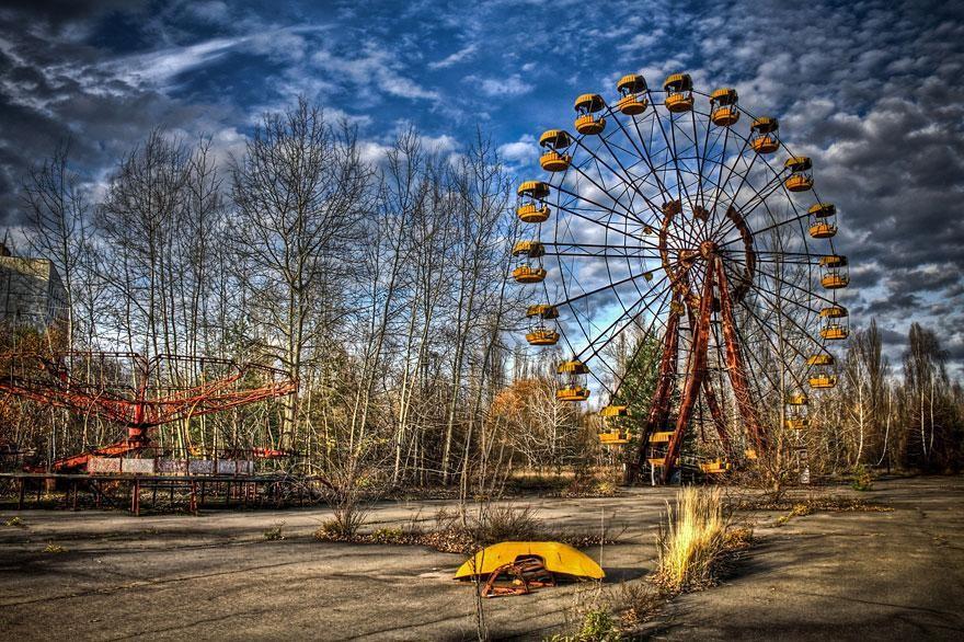site de Tchernobyl ferme solaire