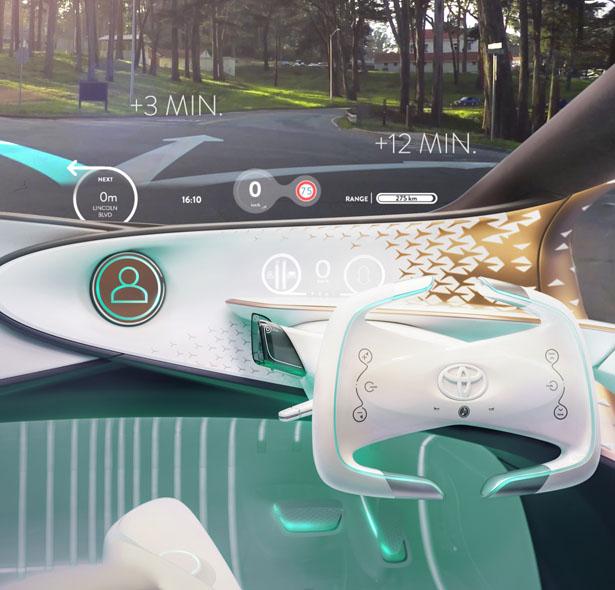 Concept-i voiture futuriste Toyota CES 2017