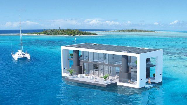Arkup maison flottante auto-élévatrice