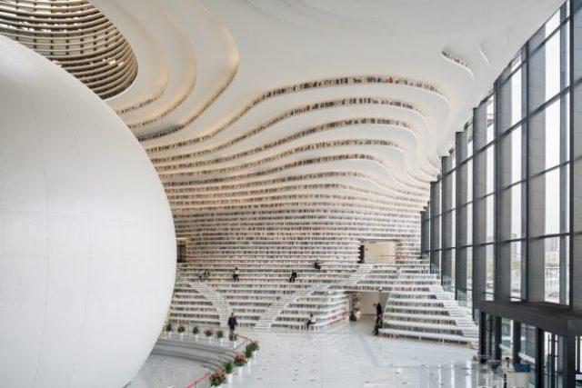 bibliothèque Tianjin Binhai