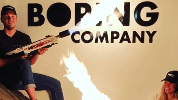 The Boring Company commercialise son premier … lance-flammes !