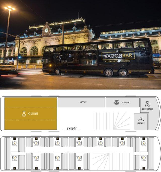 Le WagonBar – Le bus restaurant à découvrir à Lyon