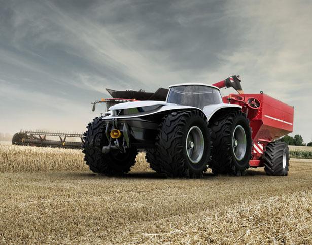 H202 Tractor – Un tracteur futuriste tout électrique avec système de conduite autonome 2