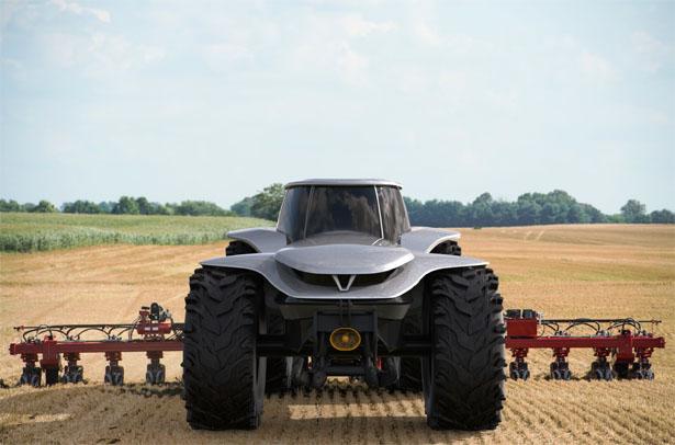 H202 Tractor – Un tracteur futuriste tout électrique avec système de conduite autonome