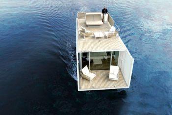 Punta Del Mar invente une péniche plug-and-play intelligente faite pour les marinas ou voyager