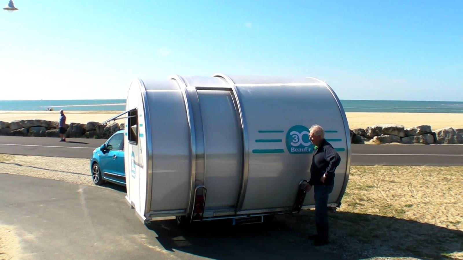 beauer d voile un camping car qui s 39 agrandit pour. Black Bedroom Furniture Sets. Home Design Ideas