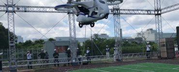 NEC présente un prototype de voiture volante multicoptère