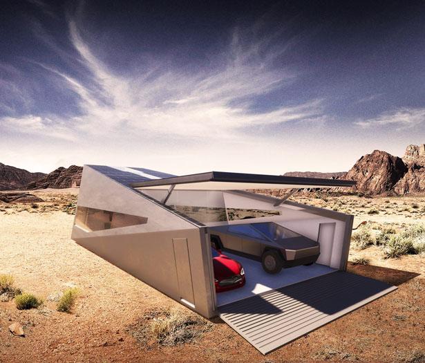 Cybunker – Le Tesla Cybertruck a inspiré ce bunker moderne 2