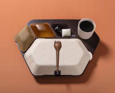 PriestmanGoode créé un plateau repas écologique et comestible pour les avions