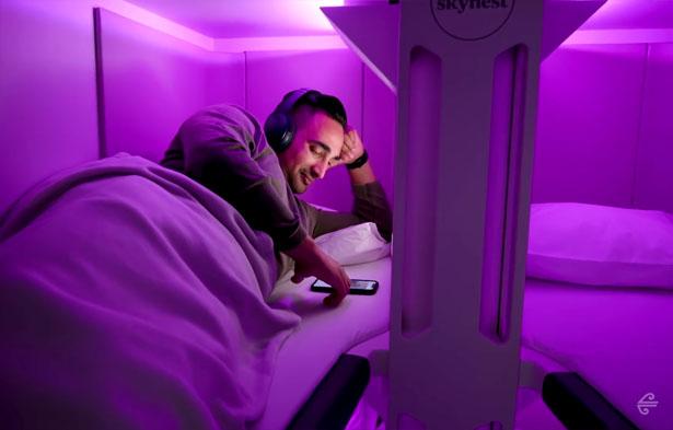 Skynest - Air New Zealand dévoile des couchettes pour les voyageurs de la classe économique 1