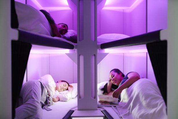 Skynest - Air New Zealand dévoile des couchettes pour les voyageurs de la classe économique