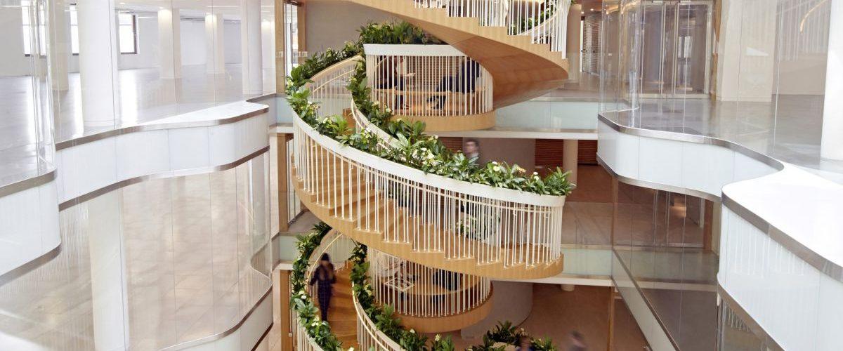 Un escalier signé par l'architecte Paul Cocksedge