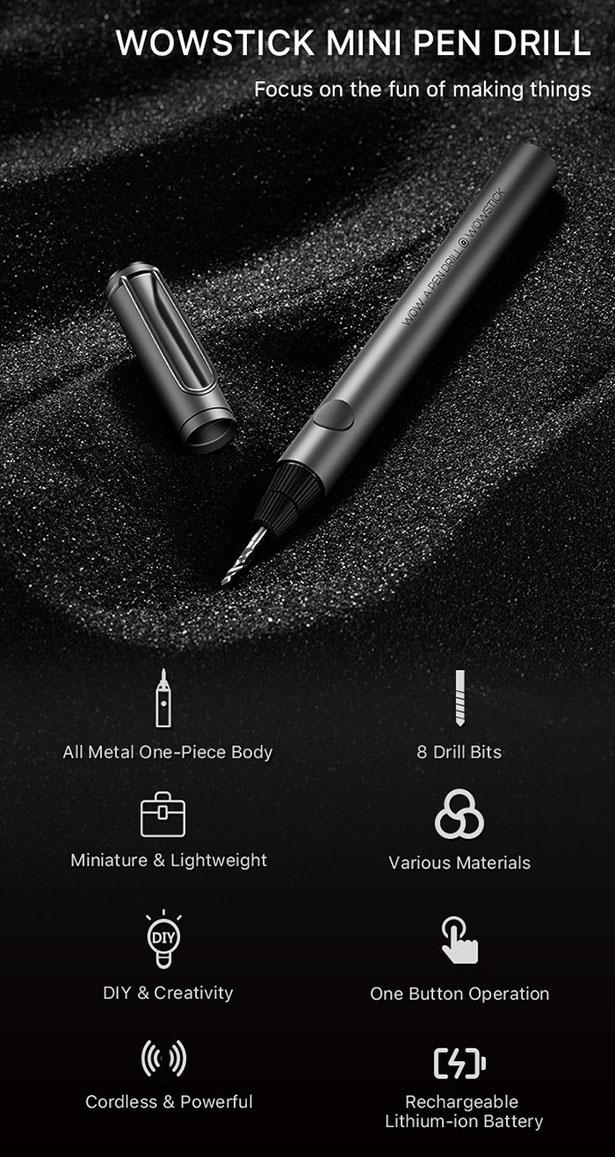 WowStick – Une mini perceuse électrique de la taille d'un stylo