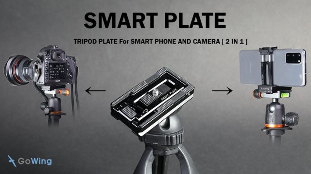 Cette plaque de trépied intelligente fonctionne avec les smartphones et les reflex numériques.