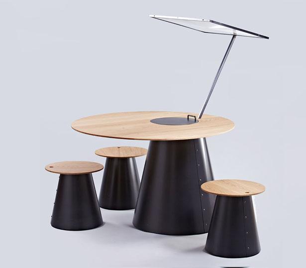 Sunplace une table de cuisson conviviale enti rement solaire for Cuisson conviviale