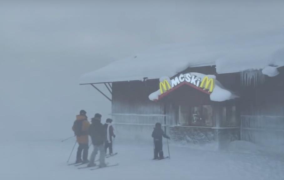 McSki McDonalds piste de ski Suède