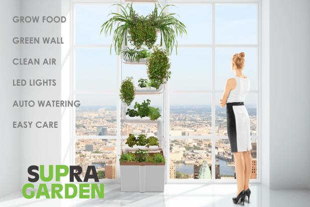 Supragarden un jardin hydroponique installer chez vous for Jardin hydroponique