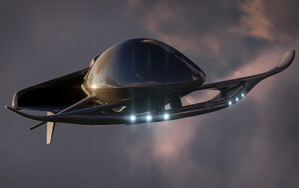 Hyperlight Eros – Un petit véhicule amphibie futuriste de Lee Rosario