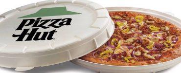 La nouvelle boîte ronde compostable de Pizza Hut déchaine les passions